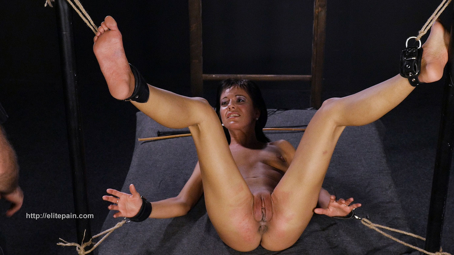 Bdsm feet torturing with stones